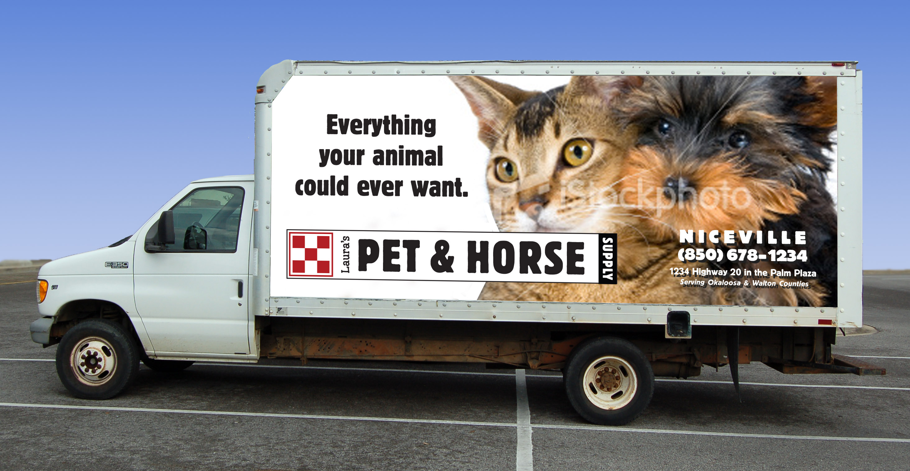 Lauras Pet  Horse Supply Delivery Truck Graphics  Mid Bay Media -  horse graphics for trucks