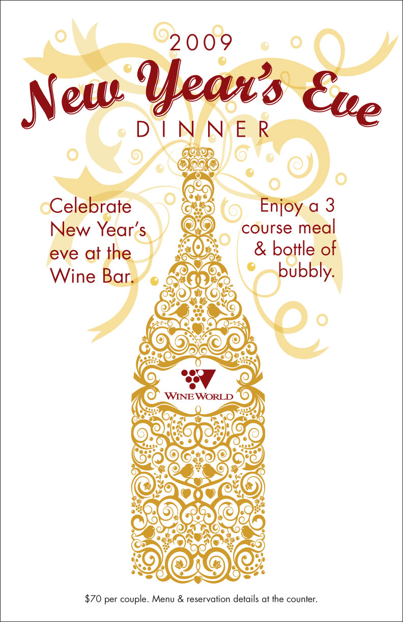 2009 New Year\'s Eve Dinner, Poster – Mid Bay Media